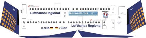 1/144 Scale Decal Augburg Airways / Lufthansa Regional Dash 8-400