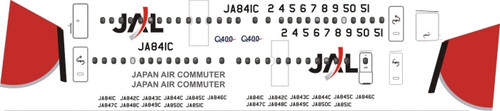 1/144 Scale Decal JAL - Japan Air Commuter Dash 8-400