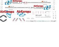 1/144 Scale Decal Air Europa 737-800