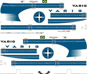 1/144 Scale Decal Varig 747-400