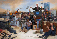 Obamanation 16 X 24 LE Signed & Numbered - Giclee Canvas