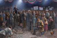 Wake Up America 8 X 12 OE - Giclee Canvas