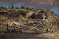 Beneath Golgotha 12x18 Signed by Artist - Giclee Canvas