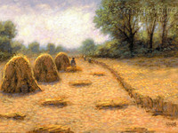 Golden Harvest 12 x 18 OE Signed by Artist - Giclee Canvas