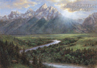 Snake River Lookout 11 x 14 LE Signed & Numbered - Giclee Canvas