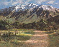 Timpanogos Shadows 16 x 20 LE Signed & Numbered - Giclee Canvas