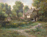 Old Watermill 24 x 30 LE Signed & Numbered - Giclee Canvas
