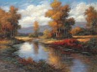 Autumn Reflections 11 x 14 LE Signed & Numbered - Giclee Canvas