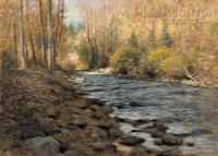 Mountain Stream 12 x 18 OE Signed by Artist - Giclee Canvas