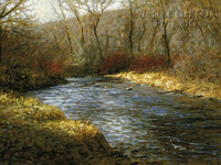 River Color 12 x 18 OE Signed by Artist - Giclee Canvas