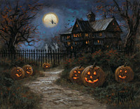 Spooky Halloween LE Signed & Numbered 24x30 - Giclee Canvas