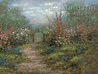 Garden Gate 24x36 LE Signed & Numbered - Giclee Canvas