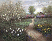 Garden Walk 24x30 LE Signed & Numbered - Giclee Canvas