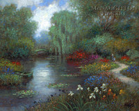 Walk in the Garden 20x24 LE Signed & Numbered - Giclee Canvas