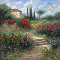Country Villa 20x20 LE Signed & Numbered - Giclee Canvas