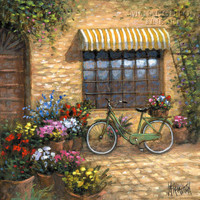 Flower Peddler 20x20 LE Signed & Numbered - Giclee Canvas