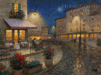 Night Cafe 18x24 LE Signed & Numbered - Giclee Canvas
