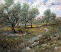 Olive Orchard 24x30 LE Signed & Numbered - Giclee Canvas
