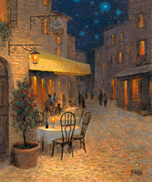 Starlight Cafe 16x20 LE Signed & Numbered - Giclee Canvas
