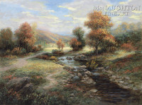 Autumn Solitude 20x24 LE Signed & Numbered - Giclee Canvas