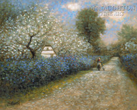 Blossom Lane 11x14 LE Signed & Numbered - Giclee Canvas