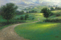 Misty Hills 18x24 LE Signed & Numbered - Giclee Canvas