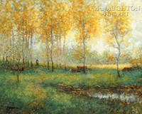 Path of Gold 24x36 LE Signed & Numbered - Giclee Canvas