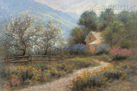 Spring Mountain 12x18 OE Signed by Artist - Giclee Canvas