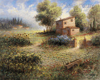 Tuscan Farm 20x24 LE Signed & Numbered - Giclee Canvas
