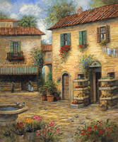 Tuscan Marketplace 24x30 LE Signed & Numbered - Giclee Canvas