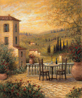 Tuscan View for Two 12x16 LE Signed & Numbered - Giclee Canvas