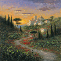Umbrian Hills 16x16 LE Signed & Numbered - Giclee Canvas