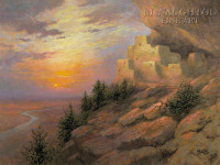 Anasazi Evening 20x24 LE Signed & Numbered - Giclee Canvas