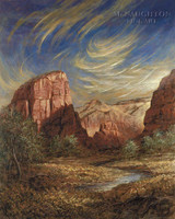 Angels Landing 16x20 LE Signed & Numbered - Giclee Canvas