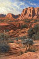 Canyon Shadows 28x35 - Giclee Canvas