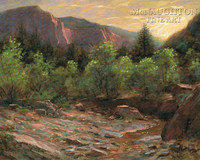 Kolob Evening 16x20 LE Signed & Numbered - Giclee Canvas