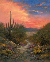 Superstition Trail 24x30 LE Signed & Numbered - Giclee Canvas