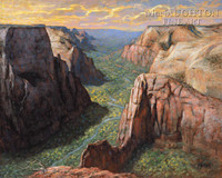 View from Observation Point 20x24 LE Signed & Numbered - Giclee Canvas
