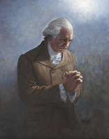 Washington's Prayer 16X20 - Litho Print