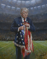 Respect the Flag - 20x24 Canvas Giclee, SOLD OUT
