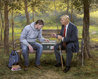 Teach a Man to Fish - 20x24 Canvas Giclee, Limited Edition, S/N 200