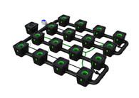 Alien Hydroponics 16 Pot  RDWC Pro 34 litre 75cm centres