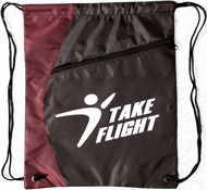 Take Flight Cinch Bag - Maroon