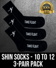 Take Flight Shin Socks - 10-12 (3 Pack)