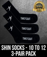 Take Flight Shin Socks - 10-12 (3 Pack)