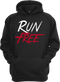 Our Run Free® Hoodie in our black version.