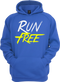 Our Run Free® Hoodie in our royal blue version.