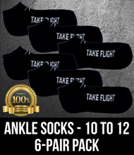 Take Flight Ankle Socks - 10-12 (6 Pack)