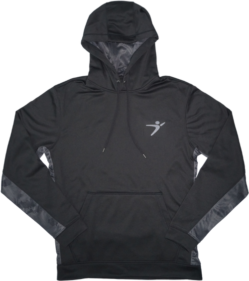 Camo Performance Hoodie in our Black/Grey version.