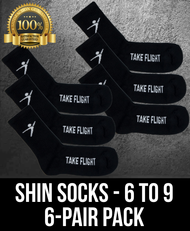 Take Flight Shin Socks - 6-9 (6 Pack)